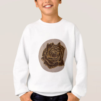 Leather-Look Rose Soft Sweatshirt