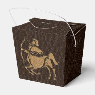 Leather-Look Sagittarius Favor Box