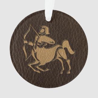 Leather-Look Sagittarius Ornament