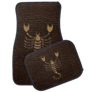 Leather-Look Scorpio Car Floor Mat
