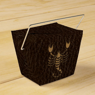 Leather-Look Scorpio Favor Box