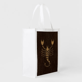 Leather-Look Scorpio Grocery Bag