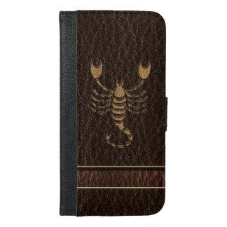 Leather-Look Scorpio iPhone 6/6s Plus Wallet Case