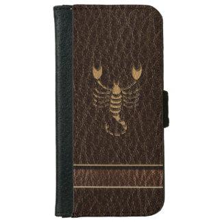 Leather-Look Scorpio iPhone 6/6s Wallet Case