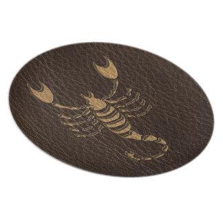 Leather-Look Scorpio Melamine Plate