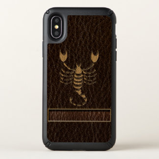 Leather-Look Scorpio Speck iPhone X Case