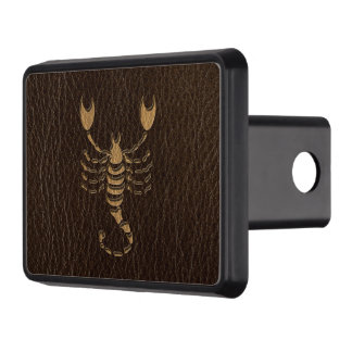 Leather-Look Scorpio Trailer Hitch Cover