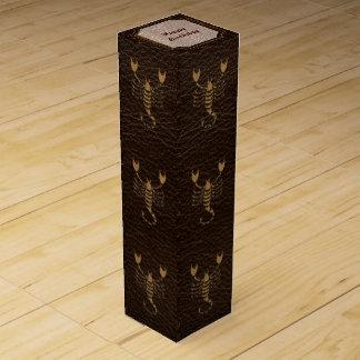 Leather-Look Scorpio Wine Gift Box