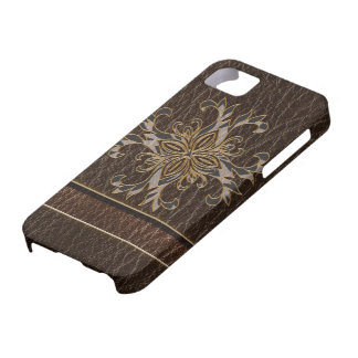 Leather-Look Star Dark iPhone 5 Cases