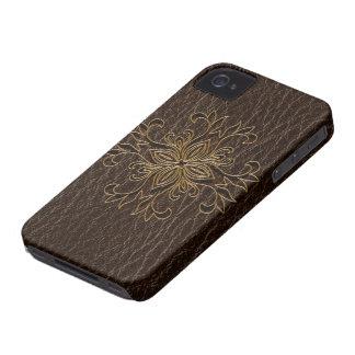 Leather-Look Star Dark iPhone 4 Case-Mate Case