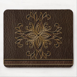 Leather-Look Star Dark Mouse Pad