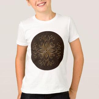 Leather-Look Star Dark T-Shirt