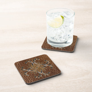Leather-Look Star Drink Coaster