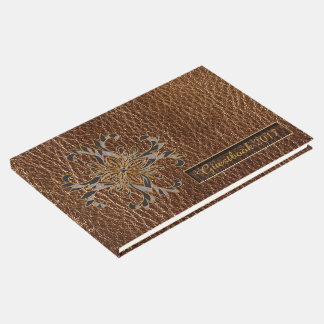 Leather-Look Star Guest Book