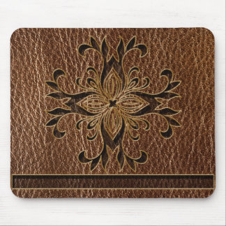 Leather-Look Star Mouse Pad