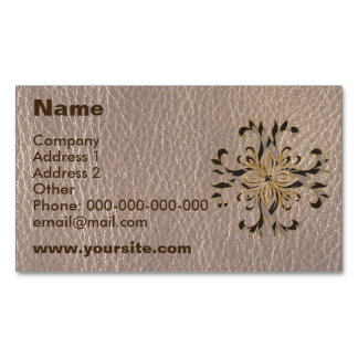Leather-Look Star Soft Business Card Magnet