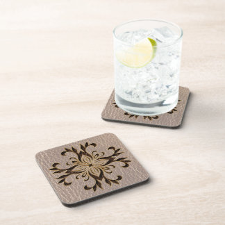 Leather-Look Star Soft Drink Coaster