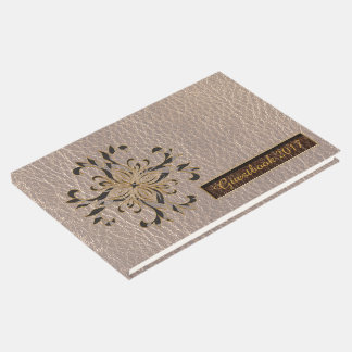 Leather-Look Star Soft Guest Book