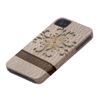 Leather-Look Star Soft iPhone 4 Cover