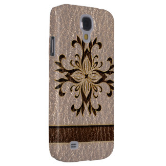 Leather-Look Star Soft Samsung S4 Case