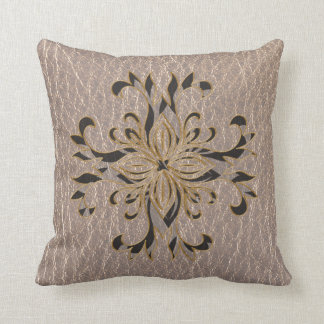 Leather-Look Star Soft Throw Pillow