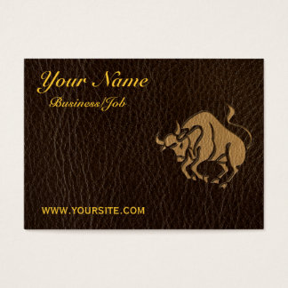 Leather-Look Taurus Business Card