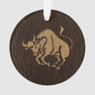 Leather-Look Taurus Ornament