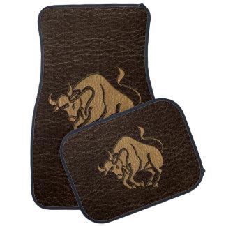 Leather-Look Taurus Floor Mat