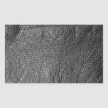 Leather-look texture rectangle stickers