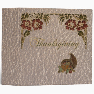 Leather-Look Thanksgiving 1 3 Ring Binder