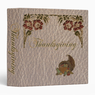 Leather-Look Thanksgiving 1 Binder