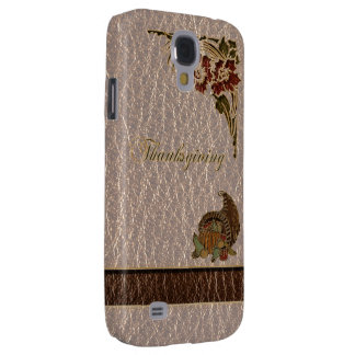 Leather-Look Thanksgiving 1 Samsung S4 Case