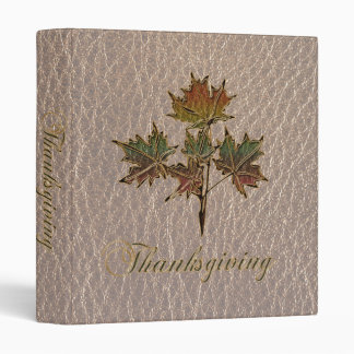 Leather-Look Thanksgiving 2 3 Ring Binder