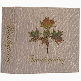 Leather-Look Thanksgiving 2 Binder