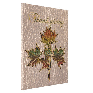 Leather-Look Thanksgiving 2 Canvas Print