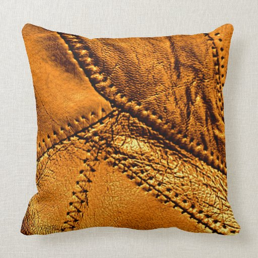 Leather Look Decorative Pillows :