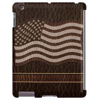 Leather-Look USA Flag Dark