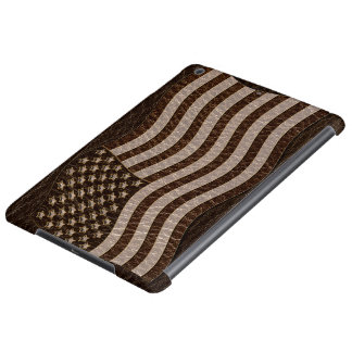 Leather-Look USA Flag Dark Case For iPad Air