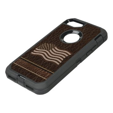 USA Themed Leather-Look USA Flag Dark OtterBox Defender iPhone 7 Case