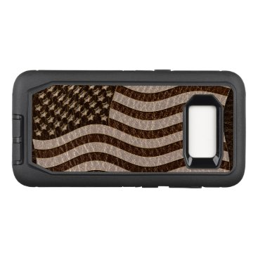 USA Themed Leather-Look USA Flag Dark OtterBox Defender Samsung Galaxy S8 Case