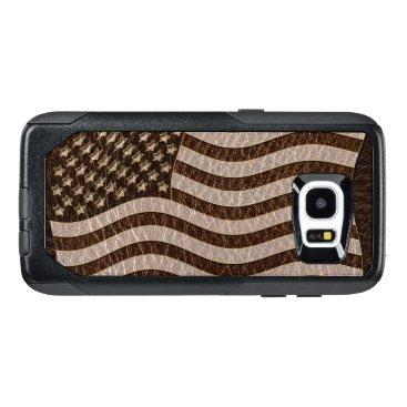 USA Themed Leather-Look USA Flag Dark OtterBox Samsung Galaxy S7 Edge Case