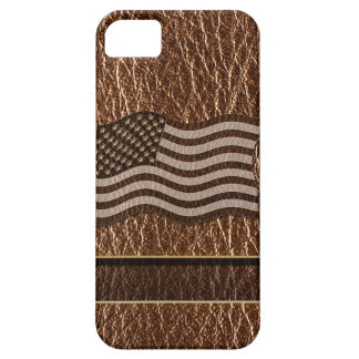 Leather-Look USA Flag iPhone SE/5/5s Case