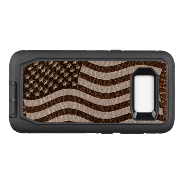 USA Themed Leather-Look USA Flag OtterBox Defender Samsung Galaxy S8 Case