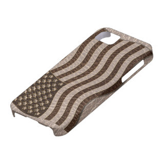 Leather-Look USA Flag Soft iPhone SE/5/5s Case