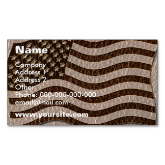 Leather-Look USA Flag Soft Magnetic Business Card