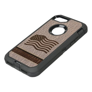USA Themed Leather-Look USA Flag Soft OtterBox Defender iPhone 7 Case