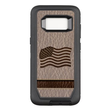USA Themed Leather-Look USA Flag Soft OtterBox Defender Samsung Galaxy S8 Case