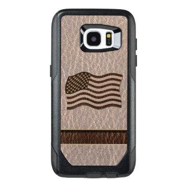 USA Themed Leather-Look USA Flag Soft OtterBox Samsung Galaxy S7 Edge Case
