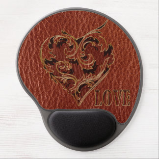 Leather-Look Valentine Gel Mouse Pad