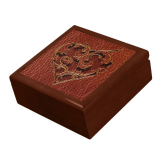 Leather-Look Valentine Gift Box